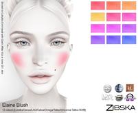 Zibska ~ Elaine Blush in 12 colors with Lelutka, Genus, LAQ, Catwa, Omega, Tattoo & Universal Tattoo BOM