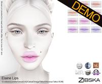 Zibska ~ Elaine Lips Demo [Lelutka/Genus/LAQ/Catwa/Omega/Tattoo/Universal Tattoo BOM]