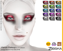 Zibska ~ Viance Makeup in 15 colors with Omega appliers, tattoo and universal tattoo BOM layers