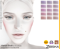 Zibska ~ Viance Blush in 15 colors with omega applier, tattoo and universal tattoo BOM layers