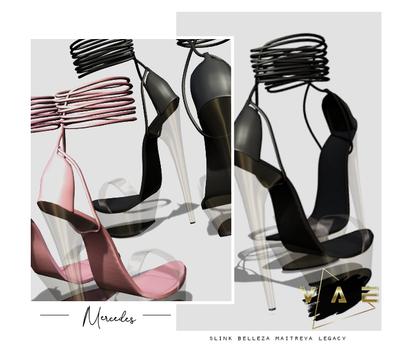 Vague. Mercedes Heels Black