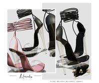 Vague. Mercedes Heels - Black -