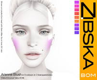 Zibska BOM Pack ~ Arienne Blush in 9 colors in 3 transparencies with tattoo and universal tattoo BOM layers