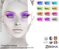 Zibska ~ Finea Eyemakeup in 12 colors with Lelutka, Genus, LAQ, Catwa and Omega appliers, tattoo & universal tattoo BOM