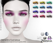Zibska ~ Clementine Eyemakeup in 12 colors with Lelutka, Genus, LAQ, Catwa and Omega appliers and Universal Tattoo/BOM