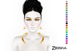 Zibska ~ Clementine Color Change Necklace and Earrings
