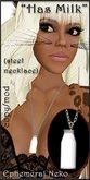 """Ephemeral Neko - """"Has Milk"""" Neko Necklace (female, steel)"""