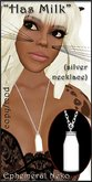 "Ephemeral Neko - ""Has Milk"" Necklace (female, silver)"