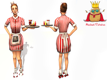 Meshed Potato - 50s American Diner Waitress - Full Perm Mesh