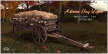 Sequel - Autumn Hay Wagon - Fall Decoration