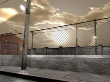 Rusty Military Fence - 1 prim each - Mesh