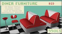 /artilleri/ Diner furniture - Set - *red*