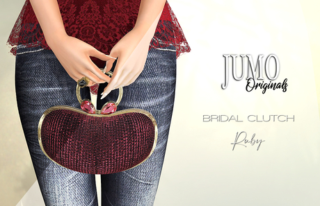 JUMO Originals - BRIDAL Clutch Ruby - ADD ME