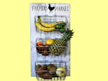 "1 PRIM ALPHA HOME WALL ART DECOR ""KITCHEN PANTRY FARMERS MARKET"" FLAT 3D Illusion Ready to Hang! Resize and COPY!"