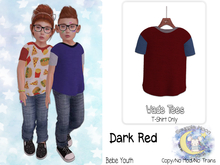 {SMK} Wade Tee   Dark Red   Youth