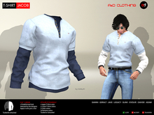 A&D Clothing - T-shirt -Jacob- Sky