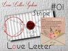 * *p-a-b 01 love Letter stripe