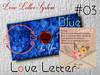 * *p-a-b 03  love Letter blue