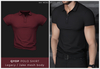 kai. QYOP polo shirt - burgundy