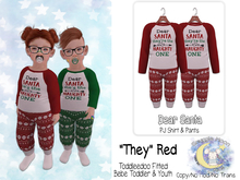 {SMK} Dear Santa PJs   They Red   Bebe & Youth, TD Fitted
