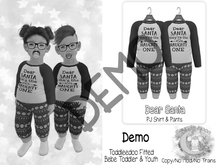 {SMK} Dear Santa PJs   DEMO   Bebe & Youth, TD Fitted