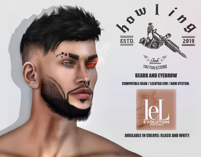 [ H O W L I N G ]- VIKING- Eyebrow and beard