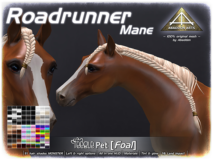 ABADDON ARTS - Roadrunner Mane [Teeglepet Foal]