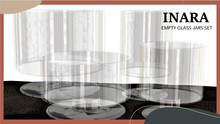 [ID] Empty Glass Jar Set