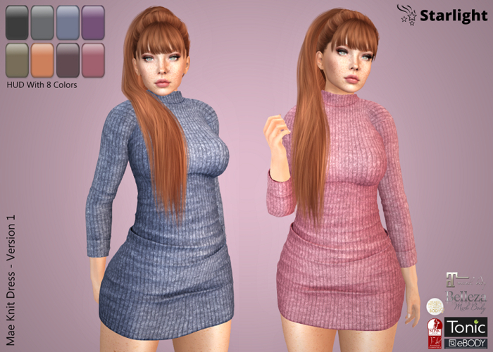 .:{ AC }:.  Mae - Knit Dress with HUD - Version 1