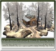 Mesh Winter Forest Wood Home Scene by Felix 87 Li=42x42m c-m