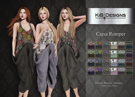 "KiB Designs - Cajsa Romper FATPACK ""Wear"""