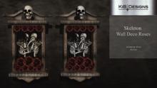"KiB Designs - Skeleton Wall Deco Roses  ""Wear"""