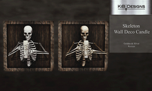 KiB Designs - Skeleton Wall Deco Candle
