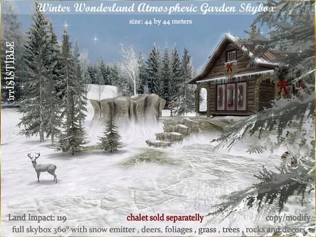 Secondlife Christmas 2021 Second Life Marketplace Irrisistible Winter Wonderland Skybox Garden Christmas 2021