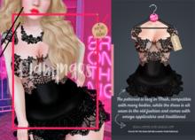 *Flamingos* - Black Serenna Dress