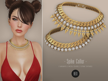 BEO_Spike_collar_necklace_(white&gold_stones)_WEAR ME TO UNPACK