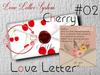 * *p-a-b 02  love Letter cherry