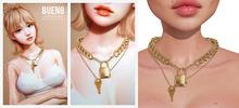 BUENO-Locked Necklaces-Gold
