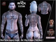 Rock Tattoo Couple Legacy  - Owl King & Queen ( Full Body )