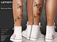 Letis Tattoo :: Butterflies :: Tattoos Bakes On Mesh & Omega Legacy Maitreya and more Appliers