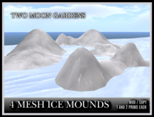 TMG - 4 MESH ICE MOUNDS* Winter Terrain Decoration