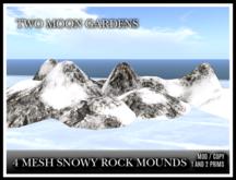 TMG - 4 MESH SNOWY ROCK MOUNDS*