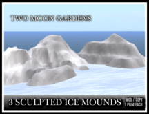 TMG - 3 SCULPTED ICE MOUNDS*