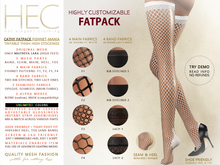 HEC Cathy Tintable Fishnet-Mania Mesh Stockings FATPACK OS-01F