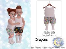 {SMK} Bixley PJs   Dragons   Bebe & TDB