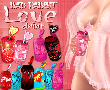 .:Bad Rabbit:. Love drink Pack (with bento hold animations)