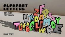 // KOALA STORE // Alphabet Letters