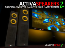 VEA Activa Speakers 2 For VEA 1.xx and VEA 2 LCD Flat TV Systems