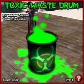EXPLODING DRUM Toxic Waste Barrel Version