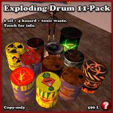 11 EXPLODING DRUMS / BARRELS! [explode on impact, explosion, explosive]